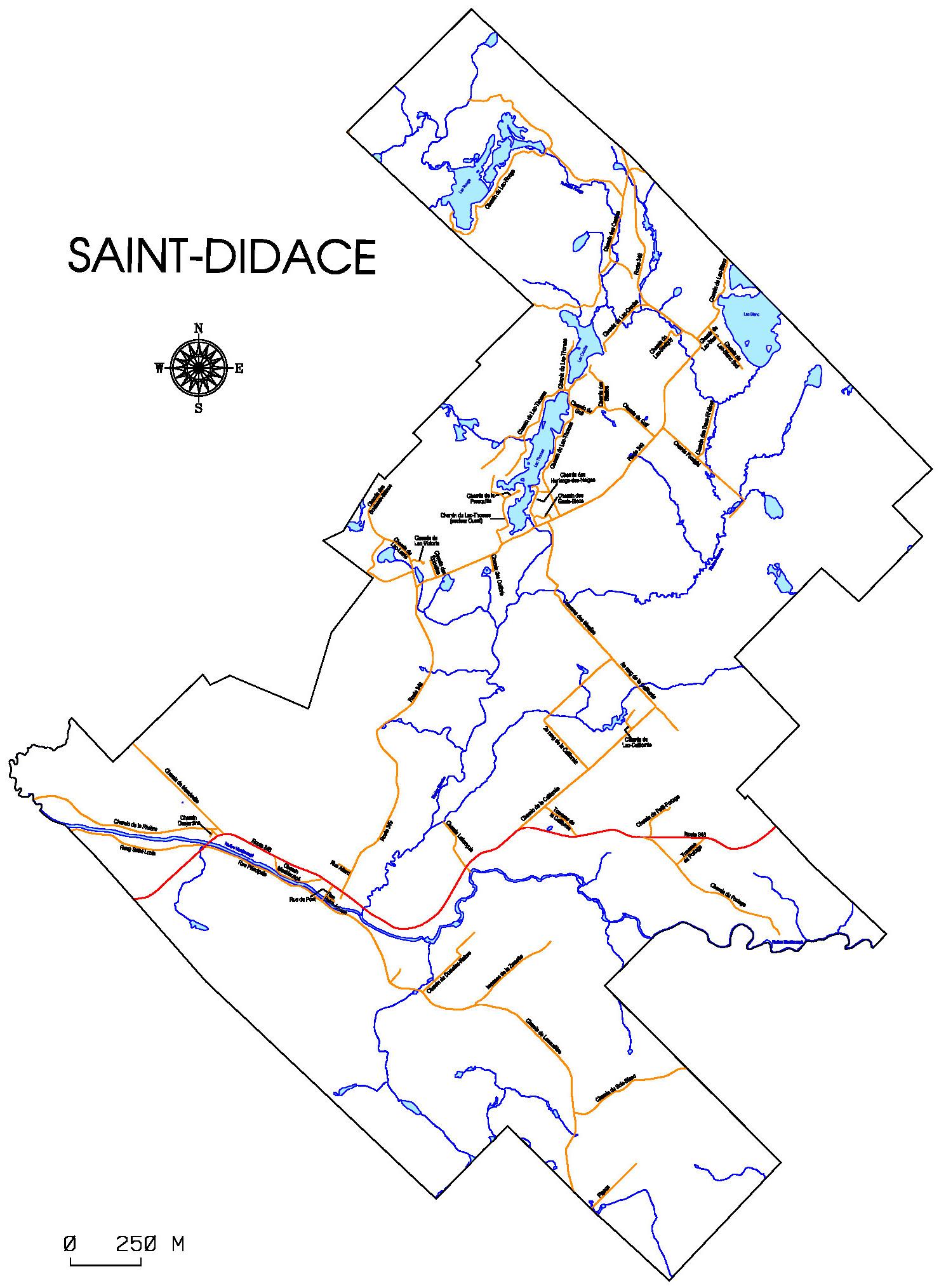 Carte de Saint-Didace.