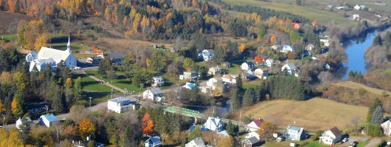 Village de Saint-Didace (vue aérienne)
