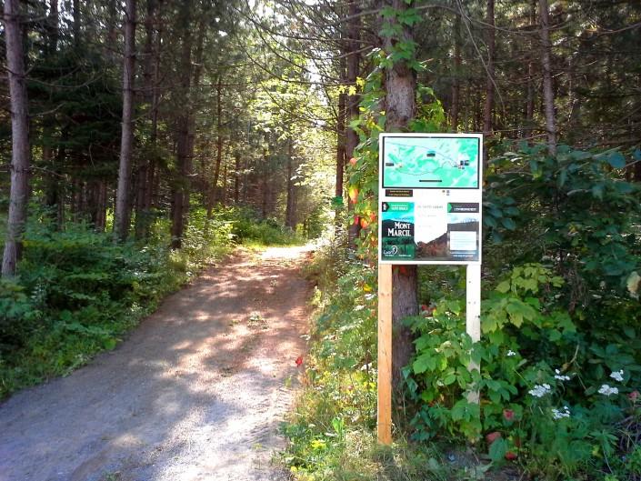 Sentier Mont Marcil - Entrée Vignoble