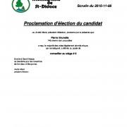 Proclamation d'élection du candidat